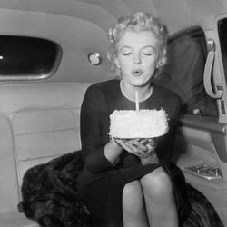 marilyn gâteau anniversaire