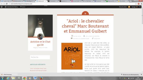 Blog Antoine capture écran
