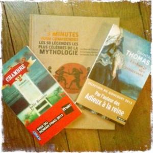 Achat de livres septembre 2014