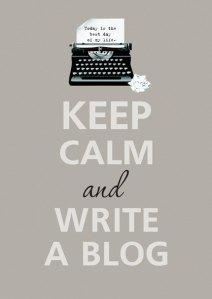 keep clam et write a blog