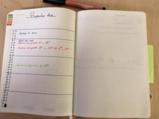 bujo prof calendrier mois
