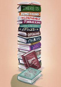 pinterest pile de livres dessin